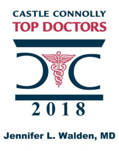 Dr. Jennifer Walden's 2018 Top Docs logo